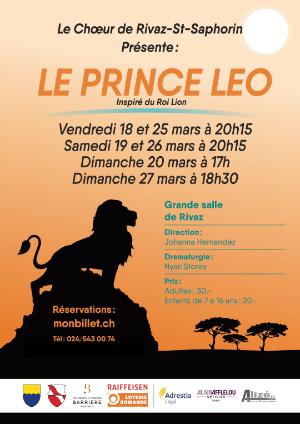 Affiche de l'évènement Comédie musicale par le Chœur Rivaz–St-Saphorin – Le Prince Léo