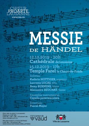 Affiche de l'évènement Chœur Pro Arte et la Capella Paterniacensis – Le Messie de Händel