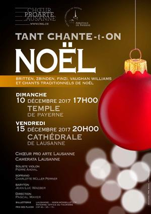 Affiche de l'évènement Choeur Pro Arte Lausanne & Camerata Lausanne – Tant chante-t-on Noël