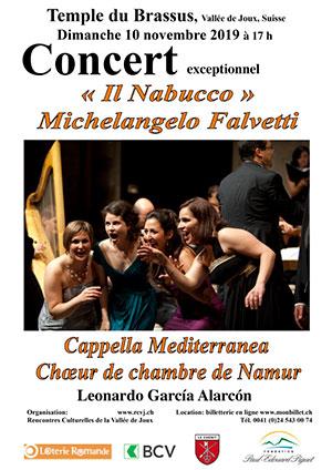 Affiche de l'évènement L. G. Alarcon, Chœur de chambre de Namur & Capella Mediterranea – Il Nabucco de Michelangelo Falvetti