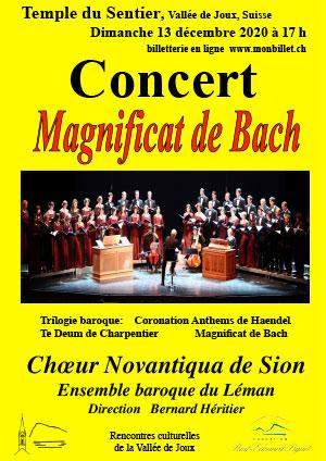 Affiche de l'évènement Rencontres culturelles de la Vallée de Joux – Magnificat de Bach