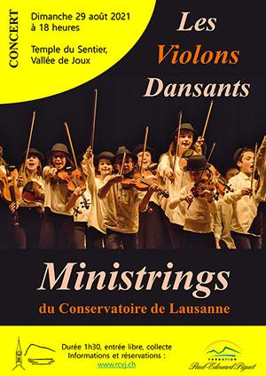 Affiche de l'évènement Rencontres culturelles de la Vallée de Joux – Ministrings & Les Violons Dansants
