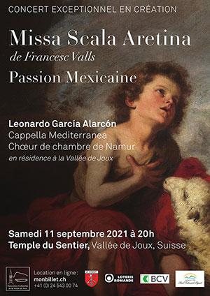 Affiche de l'évènement Rencontres culturelles de la Vallée de Joux – Missa scala Aretina & Messe mexicaine