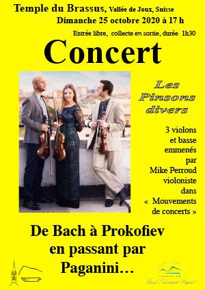 Affiche de l'évènement Rencontres culturelles de la Vallée de Joux – Les Pinsons divers