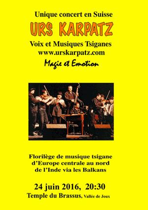 Affiche de l'évènement Voix & Musiques Tsiganes – Urs Karpatz