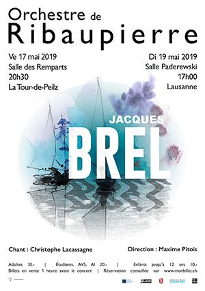 Affiche de l'évènement Orchestre de Ribaupierre – Brel