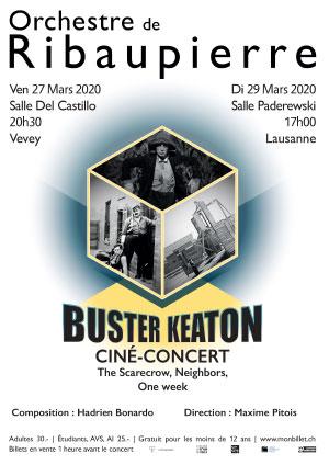 Affiche de l'évènement Orchestre de Ribaupierre – Buster Keaton, Ciné-concert