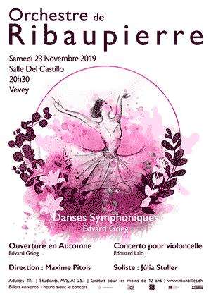 Affiche de l'évènement Orchestre de Ribaupierre – Danses Symphoniques – Edvard Grieg