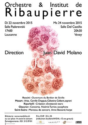 Affiche de l'évènement Orchestre et Institut de Ribaupierre – Centenaire de l'Institut de Ribaupierre