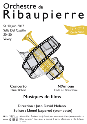 Affiche de l'évènement Orchestre de Ribaupierre – Musiques de films