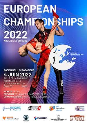 Affiche de l'évènement Demi-finales & finales – Championnat d'Europe de Rock'n'Roll Acrobatique