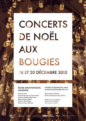 Affiche de l'évènement Pro Arte & Camerata de Lausanne – Concerts de Noël aux bougies