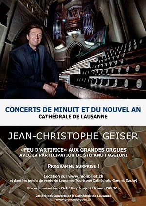 Affiche de l'évènement «Feu d'artifice» aux grandes orgues – Concert de Minuit