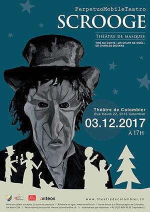 Affiche de l'évènement Théâtre de Masques – Scrooge –il n'est jamais trop tard