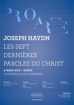 Affiche de l'évènement Chœur Pro Arte Lausanne – Les sept dernières paroles du Christ