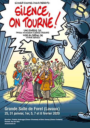 Affiche de l'évènement Chœur d'hommes L'Avenir et Chœur d'enfants les Croc'Notes Forel (Lavaux) – Silence, on tourne!