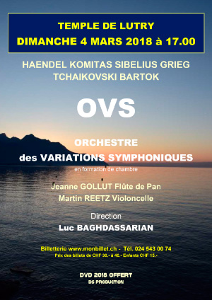 Affiche de l'évènement Les Solistes de l'OVS – Orchestre des Variations Symphoniques