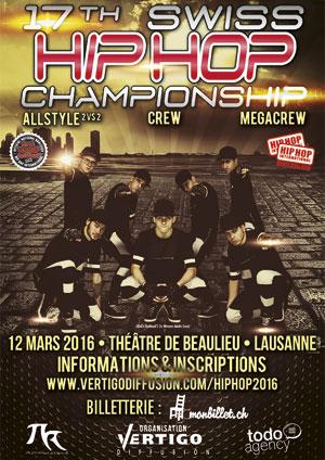 Affiche de l'évènement Compétition internationale – Swiss Hip Hop Championship