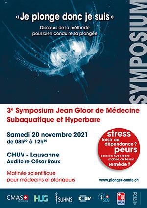 Affiche de l'évènement Médecine Subaquatique et Hyperbare – 3ème Symposium Jean Gloor