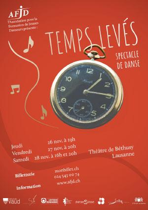 Affiche de l'évènement Association pour la Formation des Jeunes Danseurs – Spectacle de danse – Temps Levés