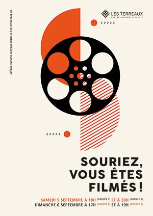 Affiche de l'évènement Spectacle des Ateliers Théâtre Fabian Ferrari – Souriez, vous êtes filmés!