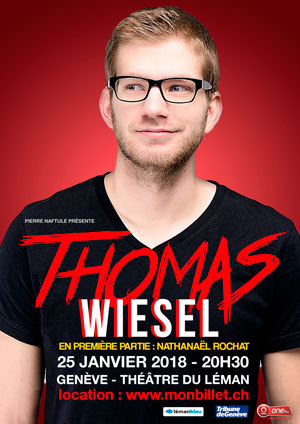 Affiche de l'évènement Stand Up – Thomas Wiesel