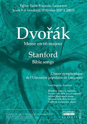 Affiche de l'évènement Choeur symphonique de l'UPL – Dvořák, Stanford
