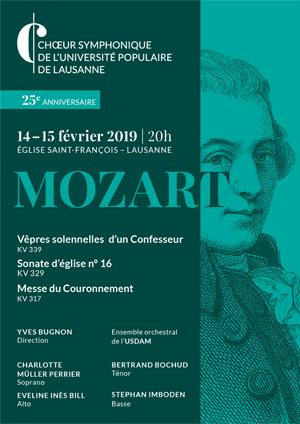 Affiche de l'évènement Choeur symphonique de l'UPL – Mozart