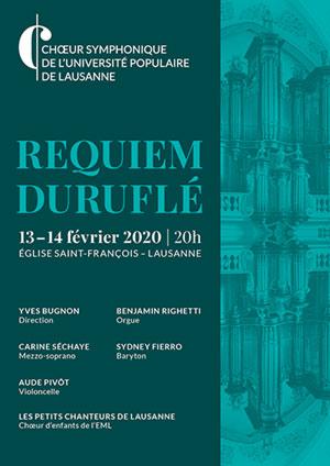 Affiche de l'évènement Choeur symphonique de l'UPL – Requiem de Duruflé