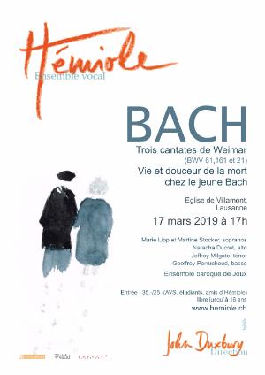 Affiche de l'évènement Hémiole Ensemble vocal présente : Trois cantates de Weimar – Vie et douceur de la mort chez le jeune Bach
