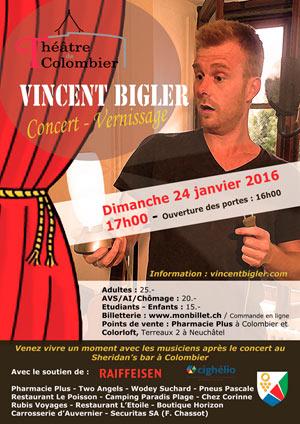 Affiche de l'évènement Concert-Vernissage – Vincent Bigler
