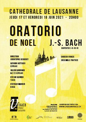 Affiche de l'évènement Chœur Vivace et Ensemble Fratres – Oratorio de Noël, J.-S. Bach