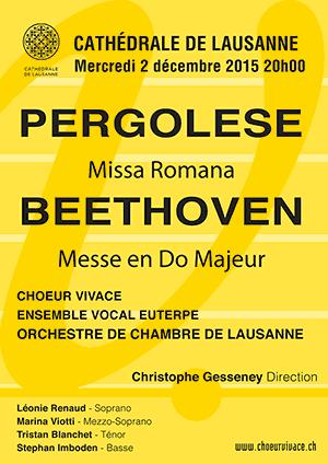Affiche de l'évènement Chœur Vivace – Pergolese, Beethoven