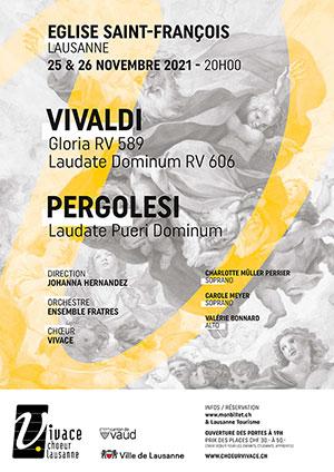 Affiche de l'évènement Chœur Vivace et Ensemble Fratres – Vivaldi & Pergolesi