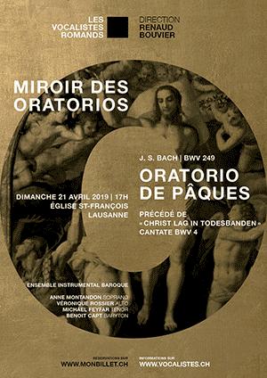 Affiche de l'évènement Oratorio de Pâques BWV 248 – Miroir des Oratorios J. S. Bach