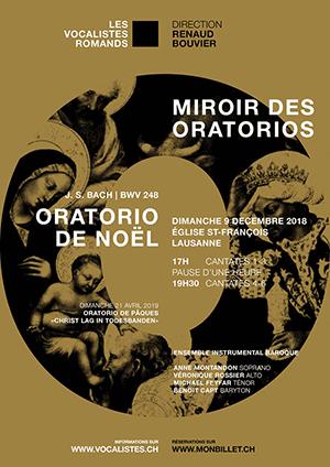 Affiche de l'évènement Les Vocalistes Romands – Miroir des Oratorios J. S. Bach: Oratorio de Noël