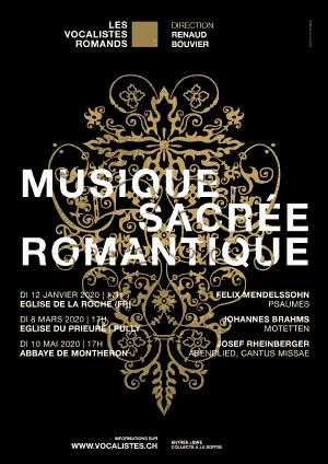 Affiche de l'évènement Les Vocalistes Romands – Musique sacrée romantique