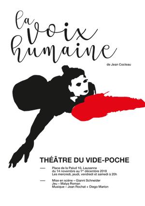 Affiche de l'évènement Une mise en scène de Gianni Schneider – La Voix humaine de Jean Cocteau